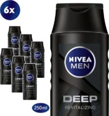 NIVEA FOR MEN Deep Shampoo - multiverpakking 6 x 250 ml