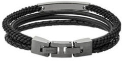 Grijze Fossil Vintage Casual Heren Armband JF03185793