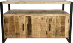 Naturelkleurige HSM Collection Sideboard Havana - 3-deurs - mangohout/ijzer