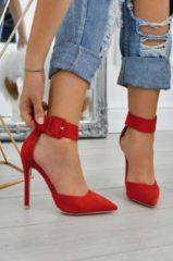 Rosso Alx Trend Decolletè scamosciate con cavigliera e tacco alto Yuma Rosse