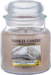Beige Yankee Candle Warm Cashmere SĹ'oik Ĺ›redni 411g