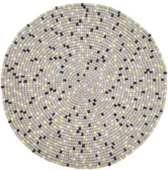 Beliani Penek Vloerkleed Wol 140 X 140 Cm