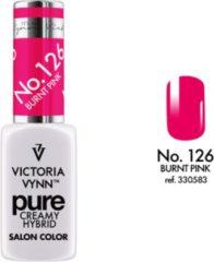 Fuchsia Gellak Victoria Vynn™ Gel Nagellak - Gel Polish - Pure Creamy Hybrid - 8 ml - Burnt Pink - 126