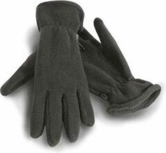 Result Grijze warme fleece handschoenen voor volwassenen M