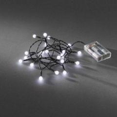 Zwarte EGB LED globe 20 lamps koel wit op batterij