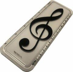 AIM Liniaal vioolsleutel 15 cm