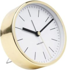 Witte Karlsson Alarm clock Minimal white, shiny gold case