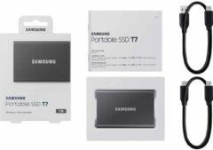 Samsung MU-PC1T0T/WW Portable T7 Externe SSD harde schijf 1 TB USB 3.2 (Gen 2)