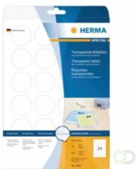 Witte Herma Transparante Etik. 40mm. A4 600 Stuks Nr.4686