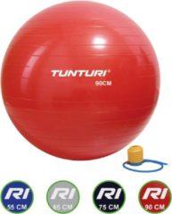 Tunturi Fitnessbal - Gymball - Swiss ball - 90 cm - Incl. pomp - Rood