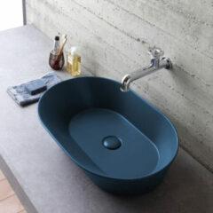 By Goof Mees ovale design waskom 60x42cm mat blauw