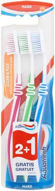 Afbeelding van Aquafresh Tandenborstel Clean&Flex Hard 3 stuks