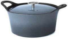Blauwe Cuisinox Braadpan - Denim Blue - 25 cm - Gietijzer