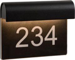 Zwarte Lucide Thesi - Wandlamp - Buiten - L20xB8,5xH16 cm - LED Dimbaar - 3000K - Zwart