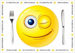 Shoppartners Papieren placemats Smiley thema 10 stuks