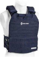 Capital_sports CAPITAL SPORTS Battlevest 2.0 gewichtsvest 2 x 8.75 lbs gewichten , hoog draagcomfort , blauw