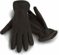 Result Zwarte warme fleece handschoenen voor volwassenen M
