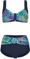 Blauwe Bikini Maritim Marine::Paars::Turquoise