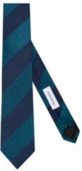 Turquoise Seidensticker zijden stropdas donkerblauw/petrol