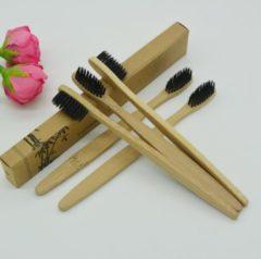 Bruine BestGadgets4U Bamboe Tandenborstel | Bamboo Tooth Brush
