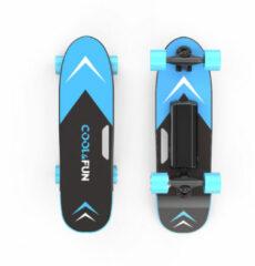 Cool&fun Elektrisch Skateboard met afstandsbediening - 150W - 12-15 km/u - Blauw