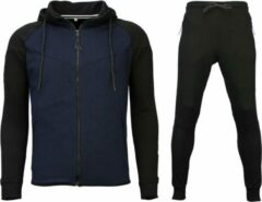 Style Italy Trainingspakken Windrunner Basic - Zwart / Blauw - Maat: S