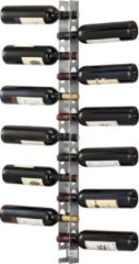 Zilveren En.casa Wijnrek Pfalz voor 12 flessen wandmontage 100x5x7 cm