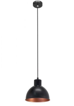 Afbeelding van Sélection Brico-travo EGLO Hanglamp TRURO 1 zwart en koperkleurig 49238