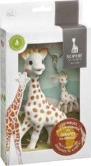 Beige Sophie de giraf set inclusief sleutelhanger Save the Giraffes