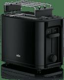 Rode Braun toaster HT 3010 BK, voor 2 sneetjes brood, 1000 W