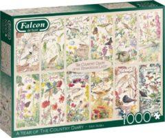 Groene Jumbo Falcon puzzel Country Diary Summer - Legpuzzel - 1000 stukjes