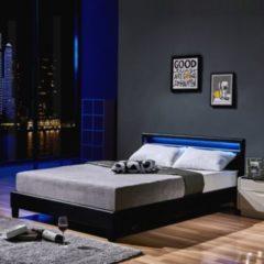 Home Deluxe LED Bett Astro 160x200, schwarz