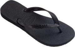 Zwarte Havaianas Top Unisex Slippers - Black/Black Black - Maat 41/42