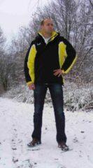 KWD Coachjas Fresco - Zwart/geel/wit - Maat XXL