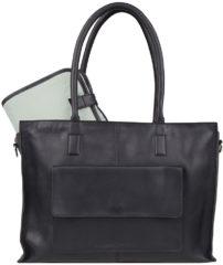 Zwarte Cowboysbag-Luiertassen-Diaper Backpack Oburn-Zwart