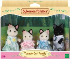 Sylvanian Families 5181 Familie Tuxedo Kat - Speelfigurenset