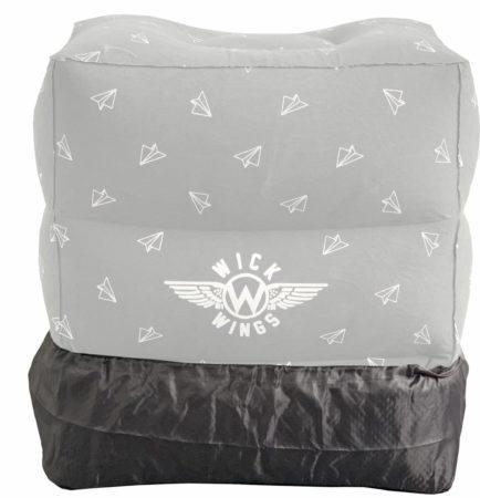 Afbeelding van Grijze Wick Wings antislip overtrek voor vliegtuigbedjes of voetensteun