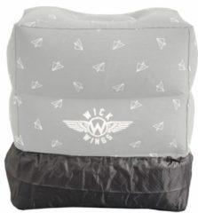 Grijze Wick Wings antislip overtrek voor vliegtuigbedjes of voetensteun
