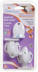 Witte Dream baby Dreambaby zelfklevend magneetslot (2 + 1 key)