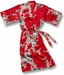 TA-HWA Kimono met Pauw Motief Rood Dames Nachtmode kimono L