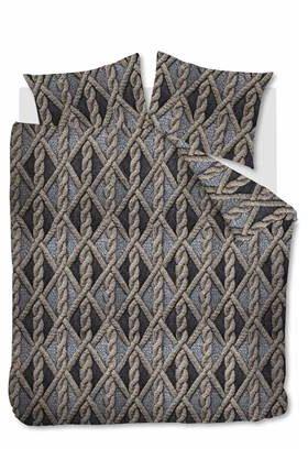 Afbeelding van Grijze Beddinghouse Aran Knit - Flanel - Dekbedovertrek - Tweepersoons - 200x200/220 cm + 2 kussenslopen 60x70 cm - Grey