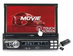 """Zwarte Caliber klapscherm RMD579DAB-BT - 1DIN Autoradio 4x75Watt met 7""""touchscreen DAB+(incl DAB+ antenne), FM radio, USB,SD,3,5mm AUX in en Bluetooth voor handsfree bellen en muziek streamen"""