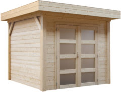 Woodvision Topvision | Blokhut Bosuil 300 x 300 | Geïmpregneerd groen