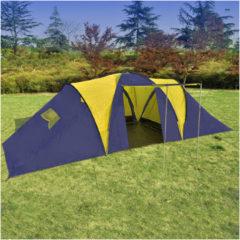 Blauwe VidaXL - Kampeertent 9 - Visavis tent - 9-Persoons - Blauw;Geel
