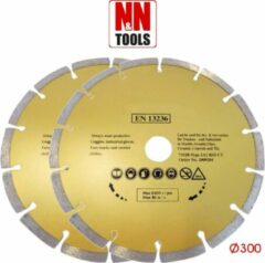 N&N Tools Diamantdoorslijpschijf Professional Multi Pack - 2 x 300 mm | Wet & Dry