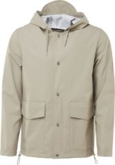 Rains Short Hooded Coat 1826 Regenjas Unisex - Beige - Maat M