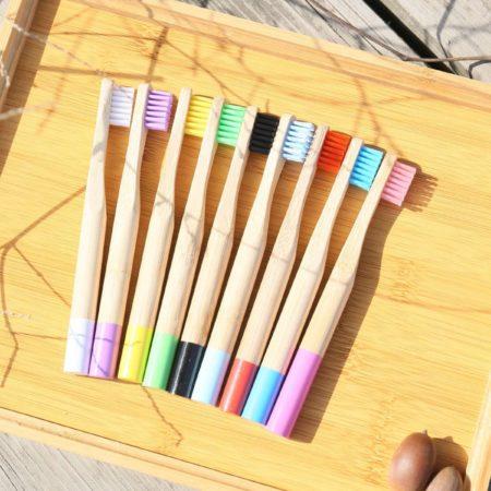 Afbeelding van Naturelkleurige Bamboe tandenborstel zachte haren van kinderen - Misomada X2 STUKJES