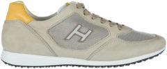 Beige Hogan Scarpe sneakers uomo in pelle olympia h205