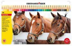 Kleurpotloden Eberhard Faber Classic metaaletui a 36 stuks EF-514836