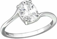 Zilveren WeLoveSilver Ringen dames | Rhodium plated ring met cubic zirkonia steen